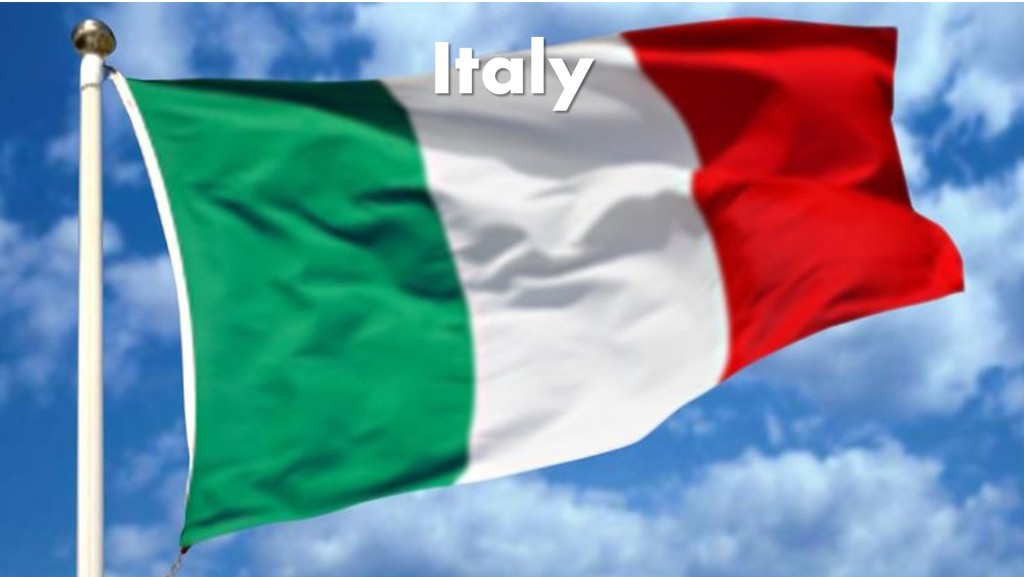 Italy Destination Main Photo Italian Flag